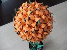 origami 3d - LILIOWIEC - drzewko kula - lilia - irys - instrukcja jak wykonać - YouTube