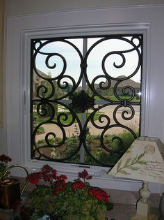 Faux Iron Window Insert by tvonschimo, via Flickr