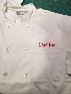 Chef's jacket! By Cantril Signature Sewing!