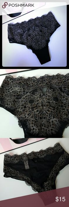 Victoria's Secret |high waist black and gold panty New with tags! victoria's Secret panty, size small. High waist with gold lace detail!  Bundle up! Offers always welcome:) Victoria's Secret Intimates & Sleepwear Panties