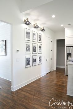 Step by step tricks and shortcuts for creating the easiest gallery wall you could ever do with frames and family photographs. Decor, Home Decor Inspiration, House, Interior, Gallery Wall Living Room, Home Decor, White Walls, Interior Design, Gallery Wall White Frames