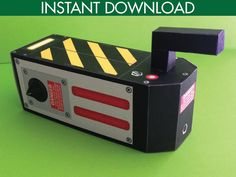 ♥´¨*) ¸.·´¸.·*´¨) ¸.·*¨) (¸.·´This Ghostbuster Inspired Trap Box is great for party favors! The kit includes: Ghostbuster Trap Box ★ EDITABLE Bar Code Text to Personalize ★ Easy to assemble with the Full Color step-by-step instructions, plus Information for materials needed & paper suggestions ★ When assembled, box measures approx: 5long x 2deep x 2 7/8high (with handle).... AND.... 5long x 2deep x 2high (w/out handle).  ★ NO physical item will be shipped! This item is an INSTANT DOWNLOAD…