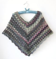 Gorgeous Crocheted Poncho  Shades of Spring  Green Pink by dsgnGrl, $40.00