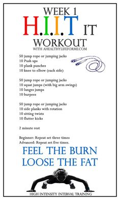 HIIT Exercise Week 1 - A Wholesome Life For Me. ** Discover more by going to the picture link