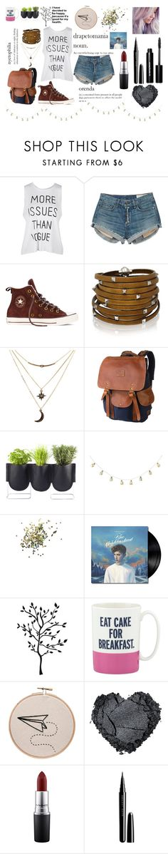 """""""So let's run away they will have to find some other hearts to break"""" by queen-mermaid ❤ liked on Polyvore featuring rag & bone, Converse, Sif Jakobs Jewellery, Charlotte Russe, Will Leather Goods, Authentics, Topshop, Kate Spade, MAC Cosmetics and Marc Jacobs"""