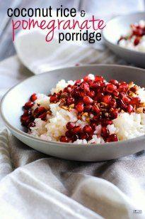 Coconut Rice And Pomegranate Porridge Recipe Gluten Free