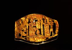 *KING TUTANKHAMUN:  The Openwork Plaque, one of 4 found elsewhere in the tomb, may have served as a buckle or an ornament for clothing.