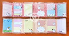 Un set de post-its de Molang, Le lapin coréen potelé très mignon~~ Papeterie kawaii en ligne de chezfee.com