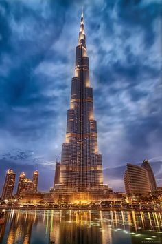 ✔️ Burj Khalifa, known as Burj Dubai prior is the tallest man-made structure in the world.