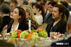 Actors Angelina Jolie (L) and Brad Pitt attend the 15th Annual AFI Awards Luncheon at Four Seasons Hotel Los Angeles at Beverly Hills on January 9, 2015 in Beverly Hills, California.  (Photo by Michael Kovac/Getty Images for AFI)