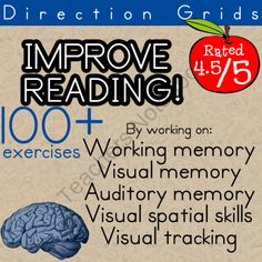 Improve Reading | Therapeutic Activity for Visual Memory, Auditory Memory, Visual Spatial skills, and Working Memory from Selma Dawani Educational Therapy on TeachersNotebook.com (119 pages)  - IMPROVE YOUR STUDENTS READING in 12 WEEKS! 5 sessions a week (10-15 minute sessions)  I have been using this method for years and it works!  It is a perfect edition to any academic remediation!!