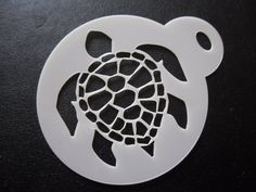 Unique bespoke new laser cut turtle shell cookie / face painting stencil