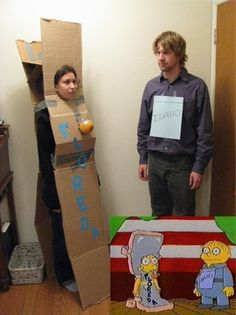 Simpsons cosplay. I don't watch Simpsons, but damn this is funny.