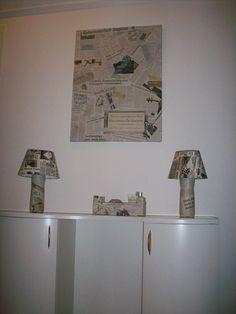 oude kranten, de basis voor een nieuw interieur