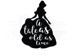 A tale as old as time svg/ Beauty and the by CourtneysCuttables