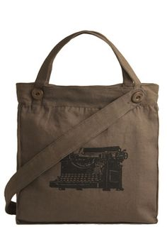 One Way Ticket Bag in Type, #ModCloth. I would love to use this as a computer messenger bag!