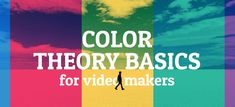 Our simple guide to color theory basics for video makers, with the color theory wheel, how color relates to emotions, plus some color theory psychology. First Video, Video Maker, Color Theory, Psychology, Psicologia