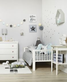 A wonderful kids bedroom - decorative pillows, garlands, pompoms, blankets, beddings and many others... find on funwithmum.com