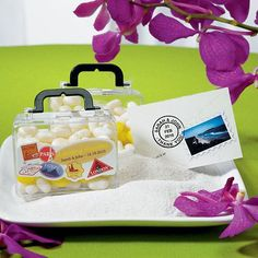 Mini Travel Suitcase Favor Container (Pack of 6)