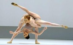 Ed Watson and Mara Galeazzi in Wayne McGregor's 'Chroma' at the Royal Opera House.
