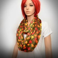 Hey, I found this really awesome Etsy listing at https://www.etsy.com/listing/162980883/infinity-scarf-satin-autumn-scarf