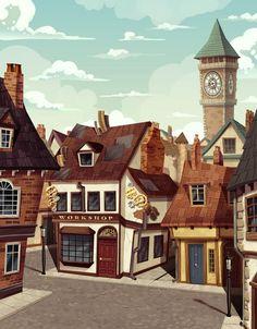 The Village! Concept Artwork.