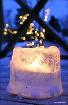 """ICE ART Sand bucket Ice Lanterns I hope you're having a wonderful week. Willowday's """"Ice Art"""" collection will continue throughout Feb. Winter Activities For Kids, Outdoor Activities, Candle Jars, Candles, Ice Art, Winter Project, Ice Sculptures, Jingle All The Way, Winter Fun"""