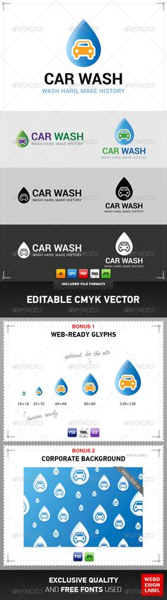New Car Wash Logo Template: http://graphicriver.net/item/car-wash-logo/5011489?ref=webdesignlabel