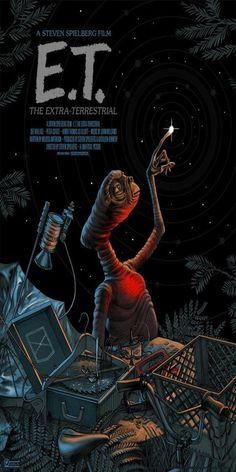 10 filmes para conhecer o cinema de Steven Spielberg. Poster do filme E. - O Extraterrestre. 10 filmes para conhecer o cinema de Steven Spielberg. Poster do filme E. - O Extraterrestre. 10 Film, Seven Film, Film Serie, 80s Movies, Iconic Movies, Amazing Movies, Cinema Movies, Disney Movies, La Haine Film