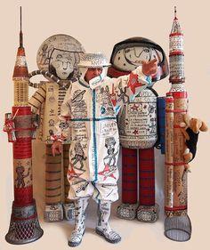 Apollo 11 - Neil Armstrong - André robillard - Youri Gagarine - Laïka Spoutnik 2 - Musée Lam de Lille