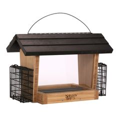 Nature's Way 6 Quart Bamboo Hopper Feeder With 2 Suet Cages * Extra spacing to accommodate large birds like Cardinals and Jays* Wide opening for easy filling and no spilling* Stay-clear #hometools #homeequipment #homedepot #houseneeds #tool #tools #drill #toolboxes #circularsaw #woodworkingtools #cordlessdrill #boschtools #woodcarvingtools #powertools #powerdrill #gardentools #toolsforsale #hitachitools #sktools #drills # gardeningtools #toolset #electricimpactwrench #prototools #toolsets…