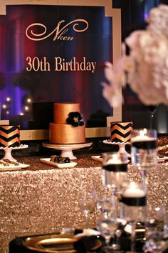 Black and Gold Party Inspiration by Elle's Couture Events 54
