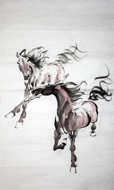 Chinese Painting: Horse - Chinese Painting CNAG235214 - Artisoo.com