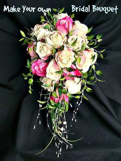 Save on wedding, diy, make your own wedding bouquets cheap and easy, bridal bouquet, boutonniere, artificial flowers, bridesmaids #weddingbouquets