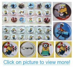 Despicable Me Buttons Set Birthday Party Favors Set of 24 Minion Party Backpack 2 Buttons