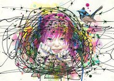 Beautiful Watercolor Drawings By Lora Zombie Art Et Illustration, Illustrations, Illustration Children, Zombies, Estilo Grunge, Watercolor Drawing, Beautiful Drawings, Urban Art, Traditional Art