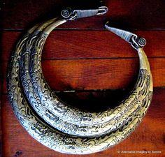 OOAK Vintage Tribal Miao Silver Dragons Necklace by TemplesTreasureTrove, $299.95