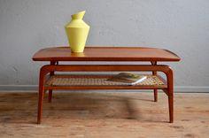 Table basse vintage rétro scandinave teck danemark design Arne Hovmand Olsen design danois Organic design table surf coffee table low table Arne Vodder Johannes Anderson