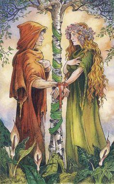 "Every time I try to tell myself ""NO MORE TAROT DECKS"" I see a new deck that calls to me. The call of The Wildwood Tarot was loud and insi. Wildwood Tarot, The Lovers Tarot Card, Tarot Major Arcana, Tarot Card Decks, Angel Cards, Beltane, Handfasting, Oracle Cards, Tarot Reading"
