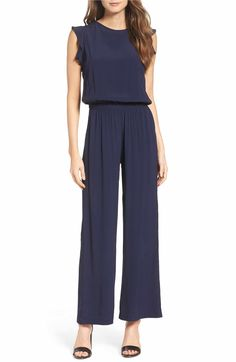 Find Fraiche J Blouson Jumpsuit online. Shop the latest collection of Fraiche J Blouson Jumpsuit from the popular stores - all in one Elegante Jumpsuits, Jumpsuit For Wedding Guest, Jumpsuit Dressy, Navy Jumpsuit, Jumpsuit Pattern, Ankle Length Pants, Overall, Nordstrom Dresses, Women's Fashion Dresses