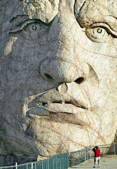 Crazy Horse Memorial . South Dakota