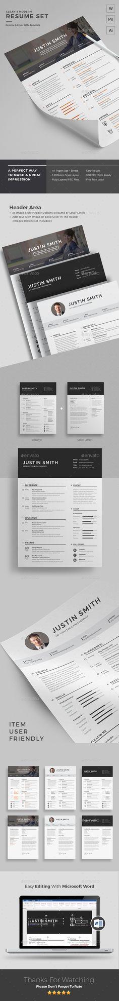 #Resume - Resumes Stationery.Download here: http://graphicriver.net/item/resume/15758839?ref=arroganttype