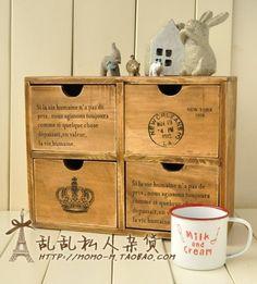 Retro wooden storage cabinets