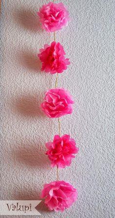 DIY - Flores con papel de seda