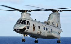 A CH-46E Sea Knight helicopter  by #PACOM, via Flickr
