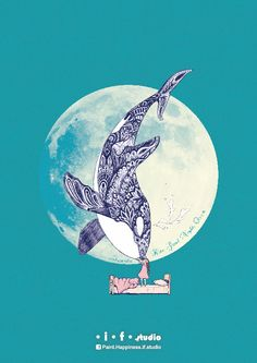 Kiss Good Night - Orca I Art Print by ifstudio Orca Tattoo, Whale Tattoos, Killer Whale Tattoo, Killer Whales, Orcas, Illustrations, Illustration Art, Orca Art, Whale Art