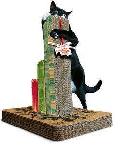 CARA DE BICHO - RS: Arranhador para gatos de papelão - como fazer?