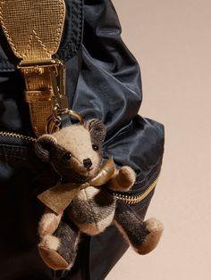 A Burberry charm featuring Thomas Bear, our signature teddy, in soft check cashmere.bag, сумки модные брендовые, bag lovers,bloghandbags.blogspot.com