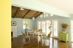 15 Dining Room Paint Ideas for Your Homes - Decoration for House Dining Room Paint, Dining Room Colors, Dining Room Design, Dining Area, Pastel Walls, Blue Walls, Paredes Color Pastel, Murs Pastel, Interior Pastel