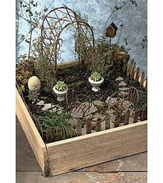 Garden Box: Fairy Garden Container, Miniature Garden Container